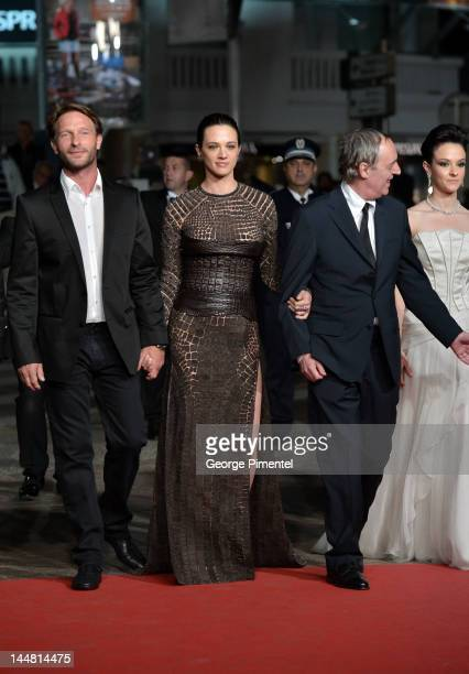 Actors Thomas Kretschmann Asia Argento director Dario Argento and actress Marta Gastini attend the 'Dario Argento's Dracula 3D' Premiere during the...