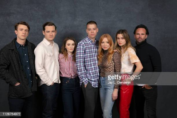 Actors Thomas Mann Lewis Pullman Kaitlyn Dever directors Dan Madison Savage Britt Poulton Alice Englert and Walton Goggins from 'Them That Follow'...