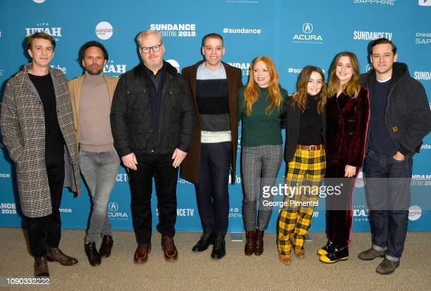 Actors Thomas Mann Walton Goggins and Jim Gaffigan codirectors Dan Madison Savage and Britt Poulton and actors Kaitlyn Dever Alice Englert and Lewis...