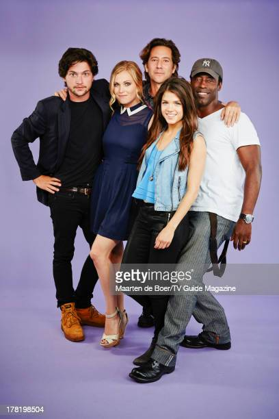 Actors Thomas McDonell Eliza Taylor Henry Ian Cusick Marie Avgeropoulos and Isaiah Washington are photographed for TV Guide Magazine on July 19 2013...