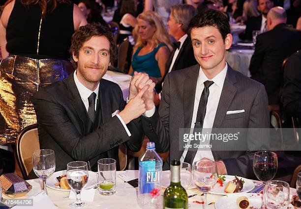 Actors Thomas Middleditch and Zach Woods attend the 5th Annual Critics' Choice Television Awards at The Beverly Hilton Hotel on May 31 2015 in...
