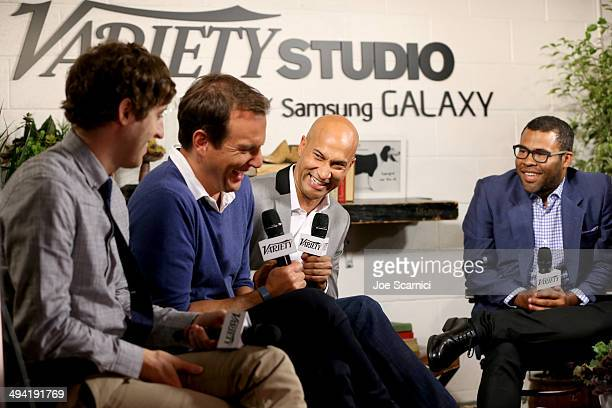 Actors Thomas Middleditch Will Arnett KeeganMichael Key and Jordan Peele attend the Variety Studio powered by Samsung Galaxy on May 28 2014 in West...