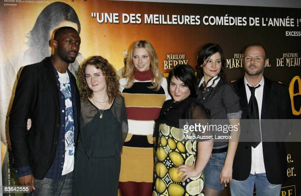 Actors Thomas N'Gijol Josephine De Meaux Frederique Bel Marilou Berry Alice Pol and PierreFrancois MartinLaval attend the premiere of 'Vilaine' at...
