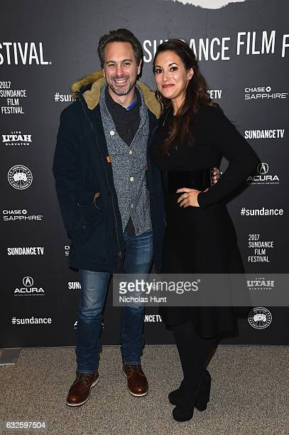 Actors Thomas Sadoski and Angelique Cabral attends the Band Aid Premiere at Eccles Center Theatre on January 24 2017 in Park City Utah