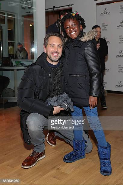 Actors Thomas Sadoski and AnnJewel Lee Dixon attends The Last Word Party at the Acura Studio at Sundance Film Festival 2017 on January 24 2017 in...