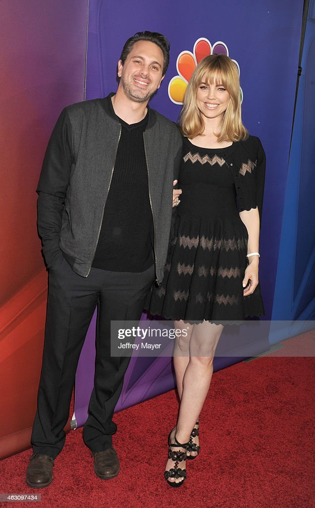 Actors Thomas Sadoski (L) and Melissa George attend the NBCUniversal 2015 Press Tour at the Langham Huntington Hotel on January 16, 2015 in Pasadena, California.