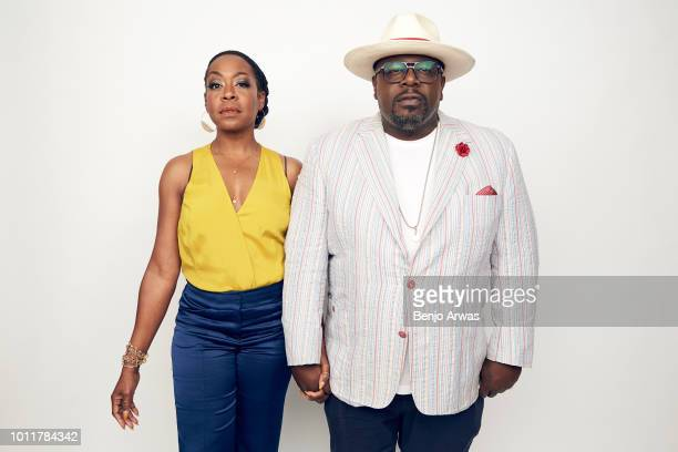 Actors Tichina Arnold and Cedric the Entertainer of CBS's 'The Neighborhood' pose for a portrait during the 2018 Summer Television Critics...
