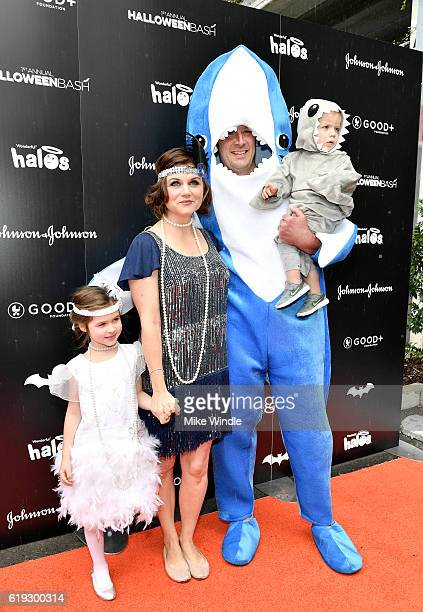 Actors Tiffani Thiessen Brady Smith and family attend the FirstEver GOOD Foundation Halloween Bash hosted Jessica Seinfeld at Sunset Gower Studios on...