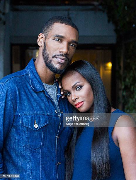 Actors Tika Sumpter Parker Sawyers of 'Southside with You' are photographed for Los Angeles Times on August 10 2016 in Los Angeles California...