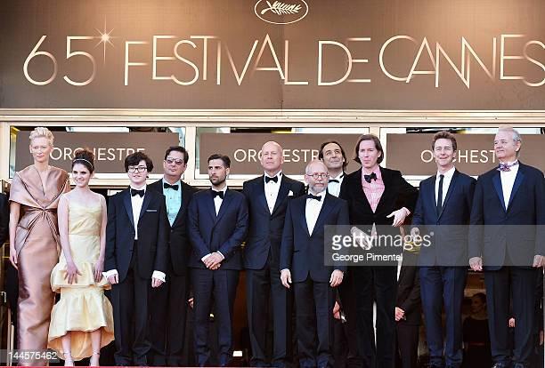 Actors Tilda Swinton Kara Hayward Jared Gilman writer Roman Coppola actor Jason Schwartzman actor Bruce Willis narrator Bob Balaban Director Wes...