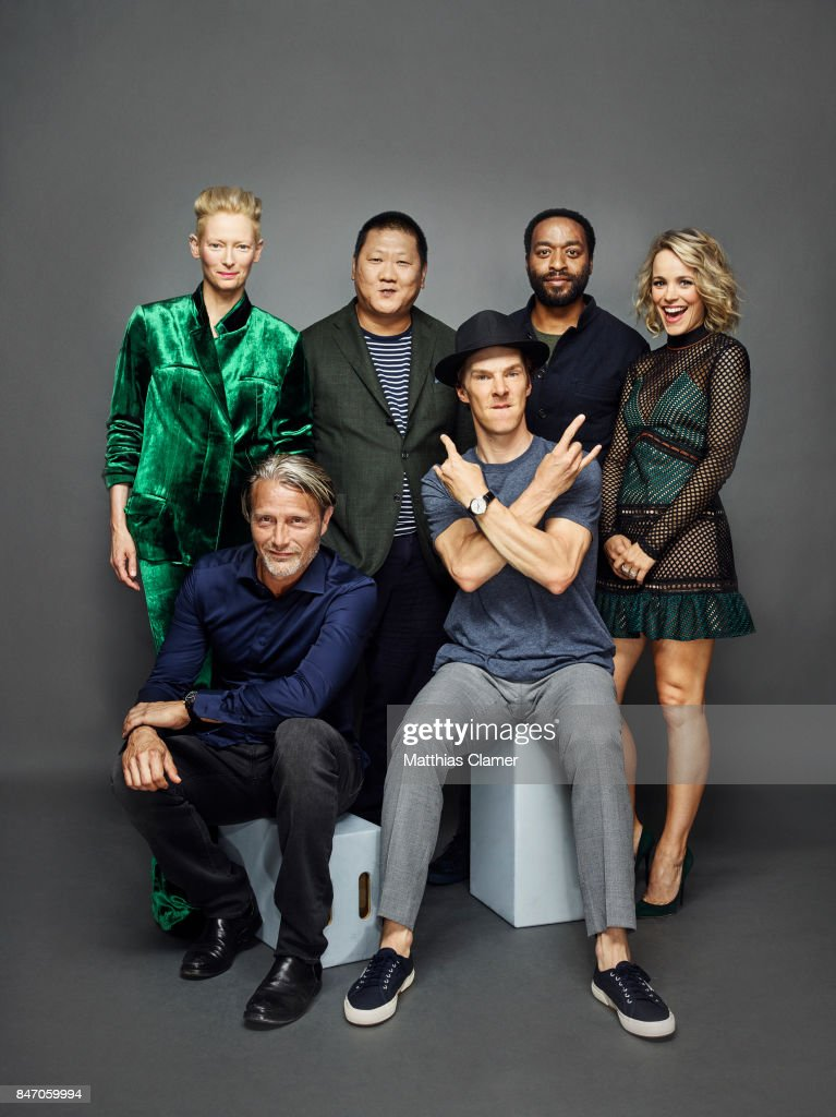Actors Tilda Swinton, Mads Mikkelsen, Benedict Wong, Benedict Cumberbatch, Chiwetel Ejiofor and Rachel McAdams from 'Dr. Strange' are photographed for Entertainment Weekly Magazine on July 23, 2016 at Comic Con in the Hard Rock Hotel in San Diego, California. PUBLISHED