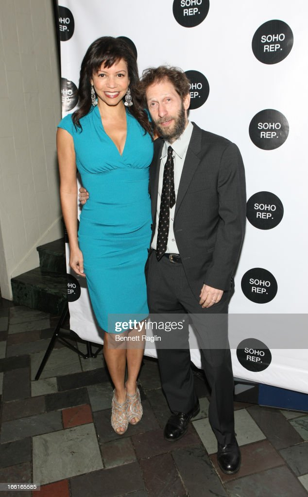 Actors Tim Blake Nelson and Gloria Reuben attend the 36th Annual Soho Rep Spring Gala at Battery Garden Restaurant on April 8, 2013 in New York City.