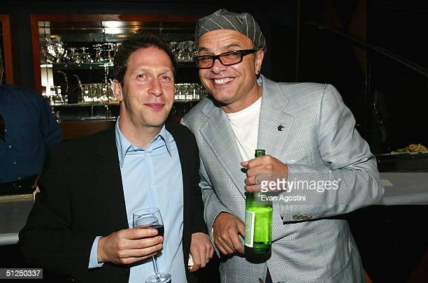Actors Tim Blake Nelson and Joe Pantoliano attend the 2004 Congressional Spotlight Award presentation to U.S. Congressman Amo Houghton, hosted by The...