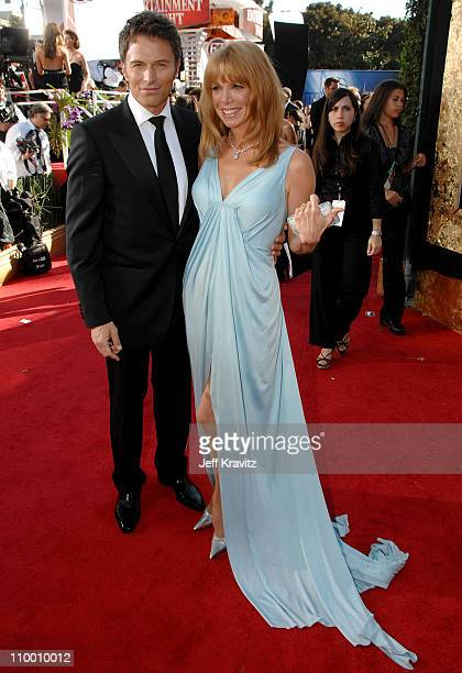 Actors Tim Daly and Amy Van Nostrand arrive at the 59th Primetime EMMY Awards at the Shrine Auditorium on September 16 2007 in Los Angeles California...