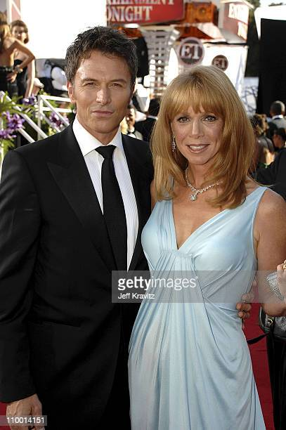 Actors Tim Daly and Amy Van Nostrand arrives at the 59th Primetime EMMY Awards at the Shrine Auditorium on September 16 2007 in Los Angeles...