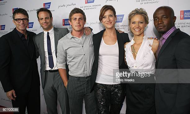 Actors Tim Daly Paul Adelstein Chris Lowell Kate Walsh KaDee Strickland and Taye Diggs attend the American Cancer Society's Blow Out Cancer with the...