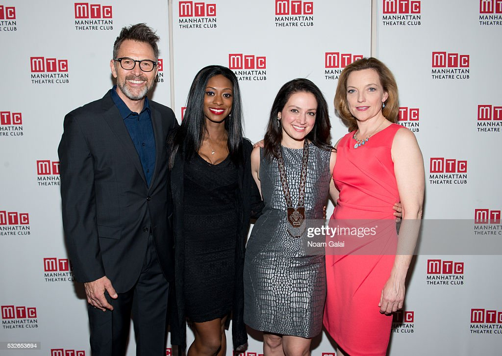Actors Tim Daly, Rachael Holmes, Roxanna Hope and Orlagh Cassidy attend the opening night of 'The Ruins Of Civilization' at New York City Center on May 18, 2016 in New York City.