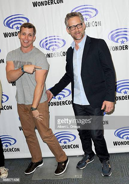 Actors Tim Griffin and Reed Diamond attend day 1 of WonderCon Anaheim 2015 held at Anaheim Convention Center on April 3, 2015 in Anaheim, California.