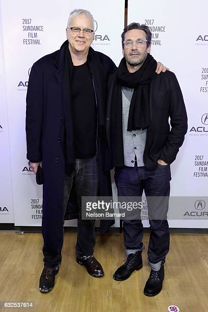 Actors Tim Robbins and Jon Hamm attend the 'Marjorie Prime' Party at the Acura Studio at Sundance Film Festival 2017 on January 23 2017 in Park City...
