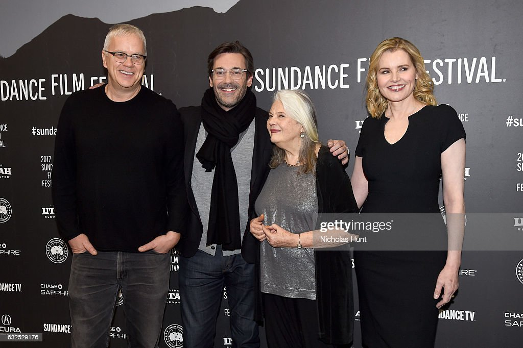 Actors Tim Robbins, Jon Hamm, Lois Smith, and Geena Davis attend the 'Marjorie Prime' Premiere at Eccles Center Theatre on January 23, 2017 in Park City, Utah.