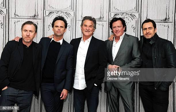 Actors Tim Roth Walton Goggins Kurt Russell Michael Madsen and Demian Bichir attend AOL BUILD Series Kurt Russell Walton Goggins Tim Roth And Demian...