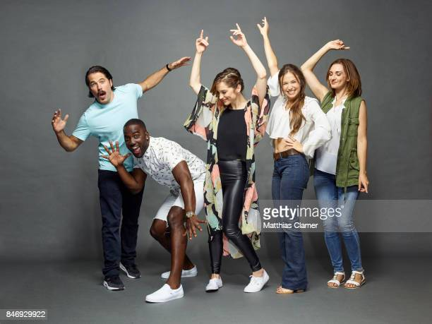 Actors Tim Rozon Shamier Anderson Melanie Scrofano Dominique ProvostChalkley and Katherine Barrell from 'Wynonna Earp' are photographed for...