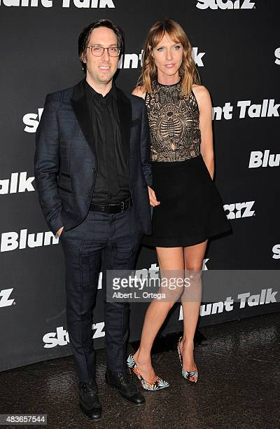 Actors Timm Sharp and Dolly Wells arrive for the Premiere Of STARZ Blunt Talk held at DGA Theater on August 10 2015 in Los Angeles California