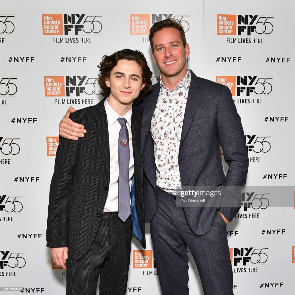 Actors Timothee Chalamet (L) and Armie Hammer attend a screening of 'Call Me by Your Name' during the 55th New York Film Festival at Alice Tully Hall on October 3, 2017 in New York City.