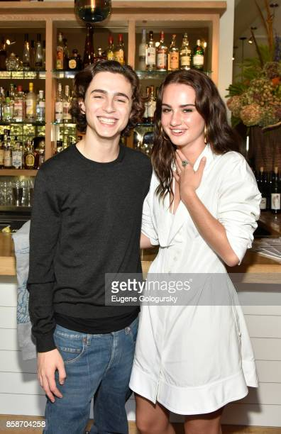 Actors Timothee Chalamet and Grace Van Patten attend the red carpet for Variety's 10 Actors To Watch photo call at Nick Toni's during Hamptons...