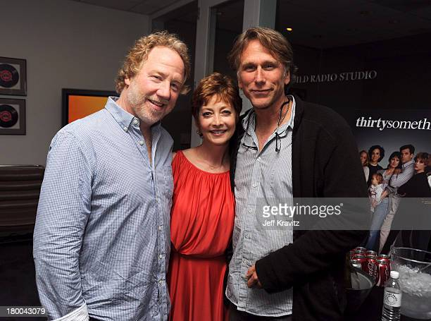 Actors Timothy Busfield, Sharon Lawrence and Peter Horton arrive at the ThirtySomething Celebration DVD Launch at the Paley Center for Media on...