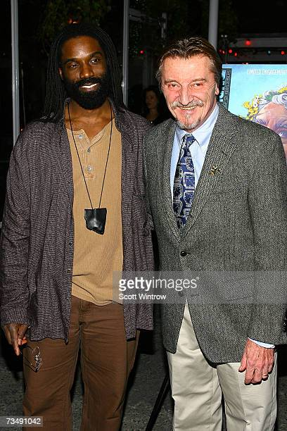 Actors Timothy D Stickney and Larry Bryggman attend the postperformance party of the opening night of King Lear at BBar March 4 2007 in New York City