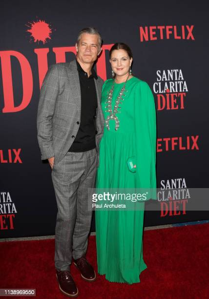 Actors Timothy Olyphant and Drew Barrymore attend Netflix's Santa Clarita Diet season 3 premiere at Hollywood Post 43 on March 28 2019 in Los Angeles...