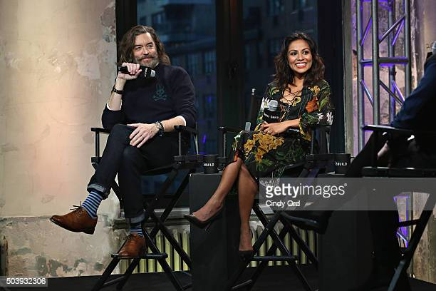 Actors Timothy Omundson and Karen David take part in AOL BUILD Series Timothy Omundson and Karen David 'Galavant' at AOL Studios on January 7 2016 in...
