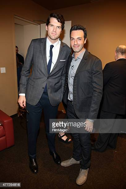 Actors Timothy Simons and Reid Scott attend HBO's 'Veep' FYC Panel at Paramount Theater on the Paramount Studios lot on June 10 2015 in Hollywood...