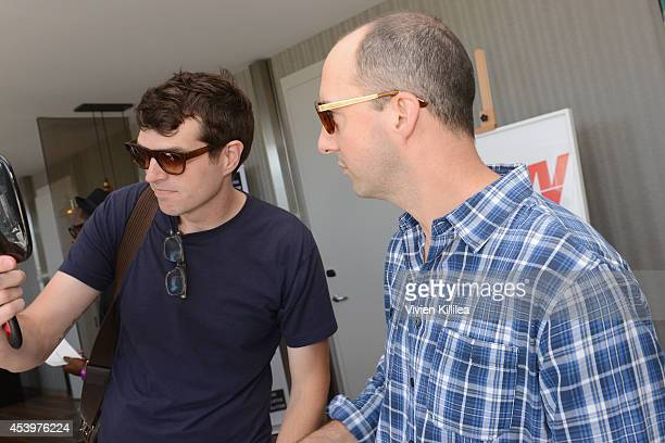 Actors Timothy Simons and Tony Hale attend Kari Feinstein's Style Lounge presented by Paragon at Andaz West Hollywood on August 22 2014 in Los...