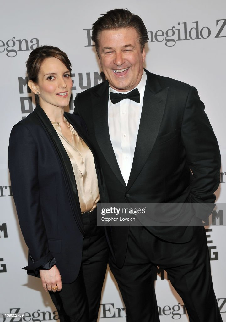 Actors Tina Fey and Alec Baldwin attend the Museum of the Moving Image salute to Alec Baldwin at Cipriani 42nd Street on February 28, 2011 in New York City.