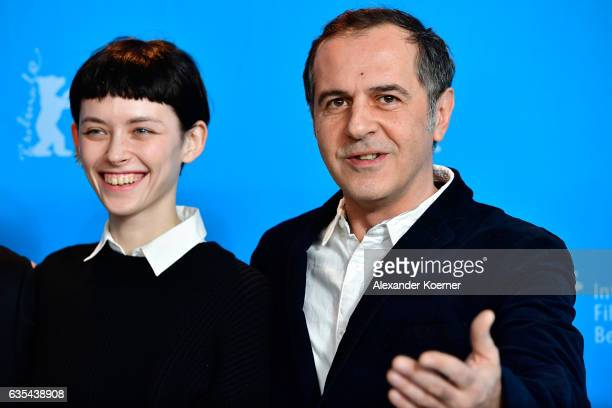 Actors Tinatin Dalakishvili and Merab Ninidze attend the 'Hostages' photo call during the 67th Berlinale International Film Festival Berlin at Grand...