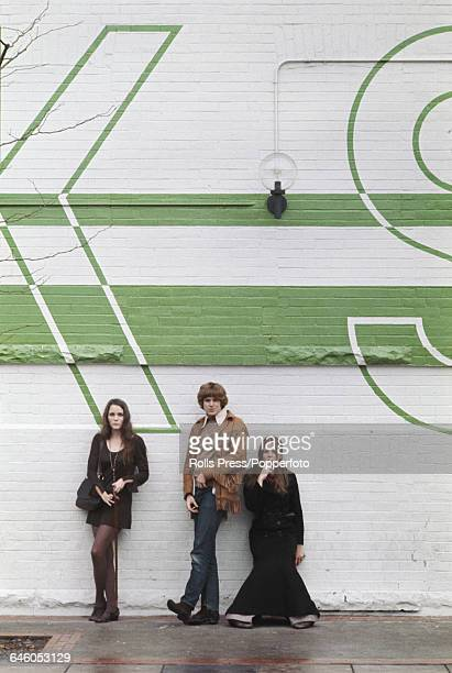 Actors Tisa Farrow, Don Scardino and Trudy Young pictured together in Toronto, Canada during shooting of the feature film 'Homer' on 10th November...