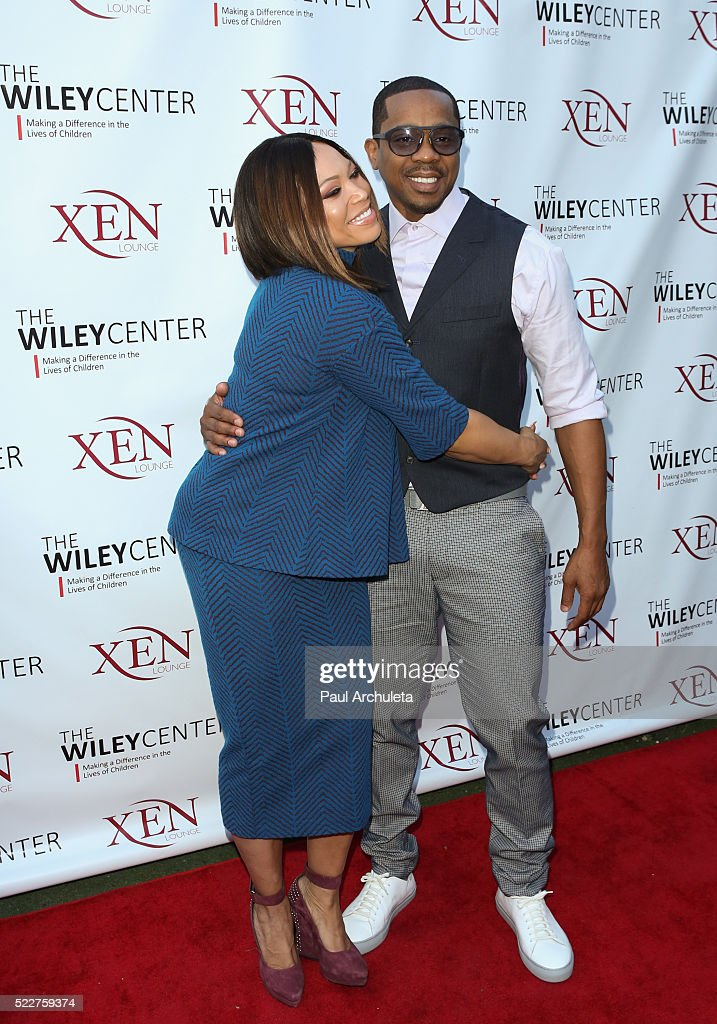 Actors Tisha Campbell Martin (L) and Duane Martin (R) attend the benefit for children with autism at Xen Lounge on April 17, 2016 in Studio City, California.