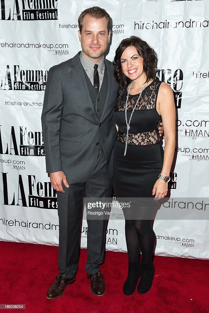 Actors TJ Dalrymple (L) and Emily Sandifer attend the 9th Annual La Femme International Film Festival opening night gala premiere 'Psycho Circus' at The Renberg Theatre on October 17, 2013 in Los Angeles, California.
