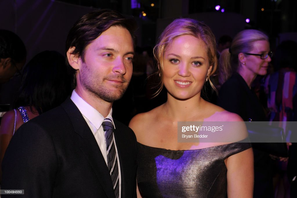 Actors Tobey Maguire and Erika Christensen attend the The Film Society of Lincoln Center's 37th Annual Chaplin Award gala at Alice Tully Hall on May 24, 2010 in New York City.