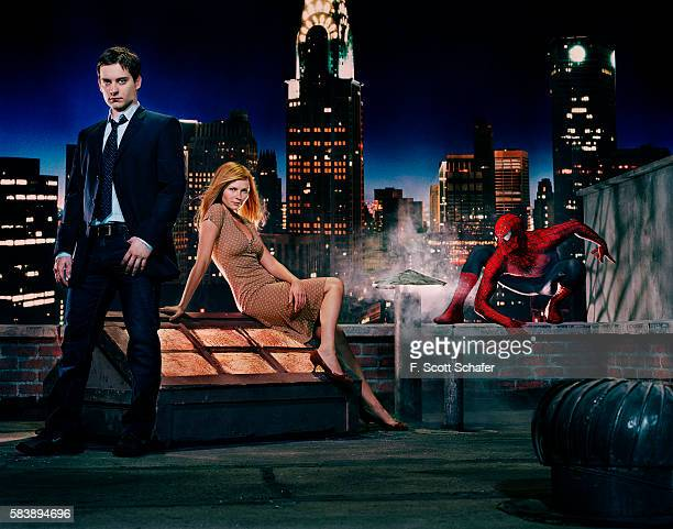 Actors Tobey Maguire and Kirsten Dunst are photographed for Newsweek Magazine in 2004 PUBLISHED IMAGE