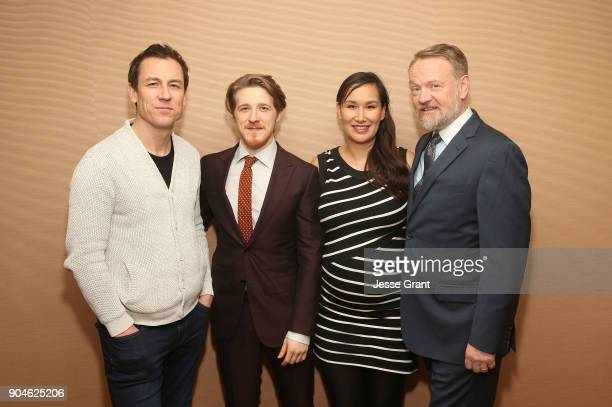 Actors Tobias Menzies Adam Nagaitis Nive Nielsen and Jared Harris of the television show The Terror pose for a photo in the green room during the AMC...