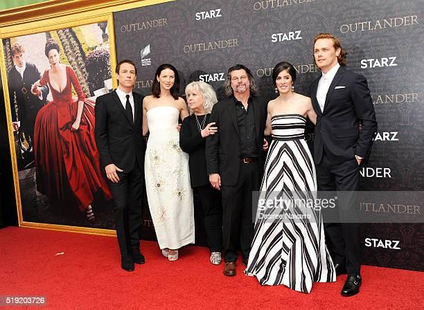 Actors Tobias Menzies Caitriona Balfe 'Outlander' Costume Designer Terry Dresbach 'Outlander' Creator Ronald D Moore 'Outlander' Executive Producer...