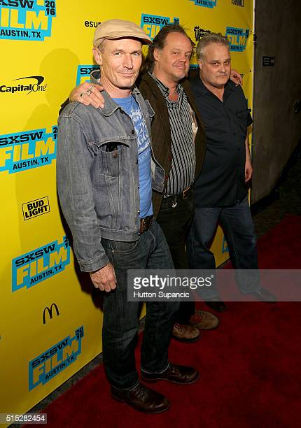 "Actors Toby Huss, Larry Fessenden, and Tommy Nohilly attend the premiere of ""In the Valley of Violence"" during the 2016 SXSW Music, Film +..."