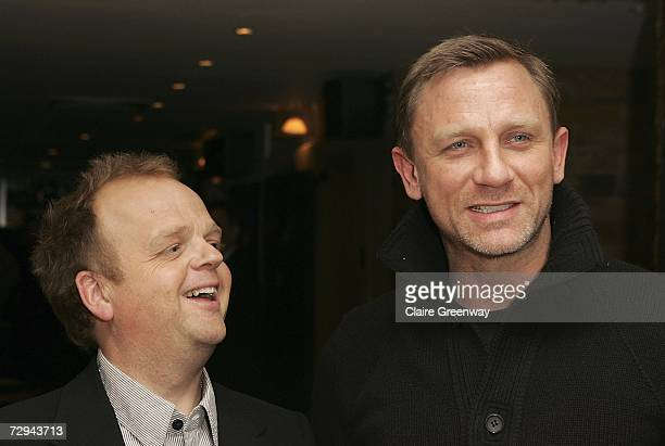 Actors Toby Jones and Daniel Craig arrive at the UK premiere of Infamous at Courthouse Kempinski Hotel on January 7 2007 in London England