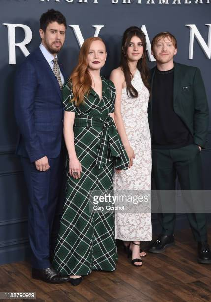 """Actors Toby Kebbell, Lauren Ambrose, Nell Tiger Free and executive producer/director M.Knight Shyamalan attend Apple TV+'s """"Servant"""" World Premiere..."""