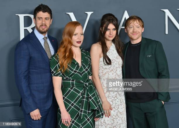 Actors Toby Kebbell Lauren Ambrose Nell Tiger Free and Rupert Grint arrive for Apple TV premiere of Servant at BAM Howard Gilman Opera House in...