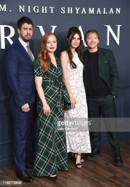 Actors Toby Kebbell Lauren Ambrose Nell Tiger Free and Rupert Grint attend Apple TV's Servant World Premiere at BAM Howard Gilman Opera House on...