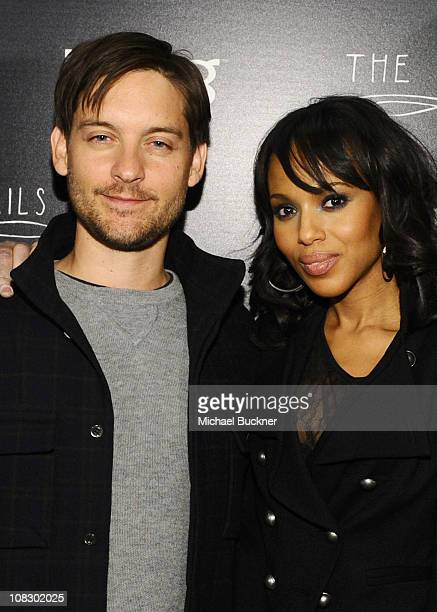 """Actors Toby Maguire and Kerry Washington attend Bing Presents """"The Details"""" Official Cast Dinner and After-Party on January 24, 2011 in Park City,..."""